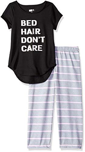 Crazy 8 Girls Big Short Sleeve Curve Hem Flame Resistant Pajama Set