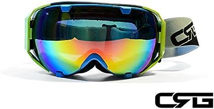 Amazon Com Crg Sports Anti Fog Double Lens Ski Goggles Snow Goggles Snowboard Goggles Grey Frame Adult Crg105 Series Smoke Red Revo Sports Outdoors