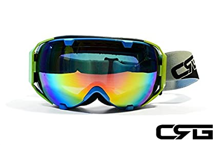 72fbba4f199 Image Unavailable. Image not available for. Color  CRG Sports Anti Fog  Double Lens Ski Goggles