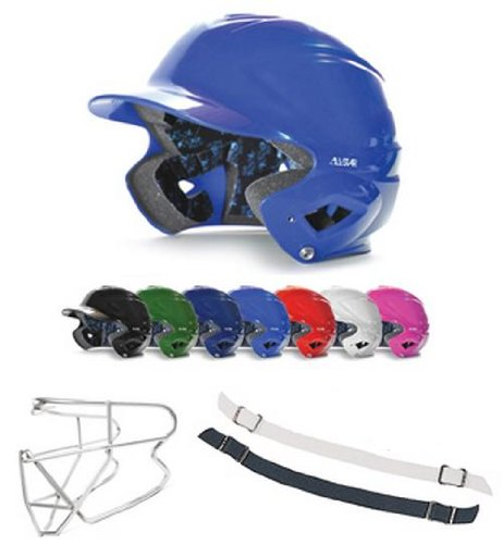 (Royal Blue Helmet, Chin Strap and Face Guard)