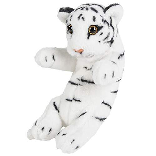 Wildlife Tree 8 Inch Small Baby White Tiger Cub Stuffed Animal Floppy -