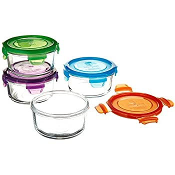 Wean Green Garden Lunch Bowls, Multi-Colored, Set of 4