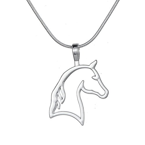 Cut Out Horse Head Pendant Necklace Best for Cowgirl Teen Girls Equestrian Birthday Gift Jewelry