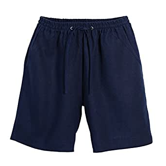 Beachcombers Women's Bottoms Drawstring Linen Shorts Navy Small
