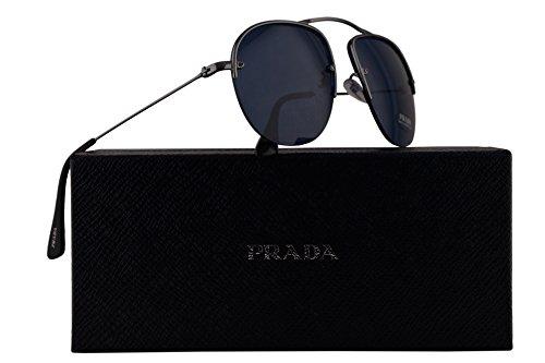 Prada PR58OS Teddy Sunglasses Gunmetal Grey w/Blue 55mm Lens 5AV1V1 SPR58O PR 58OS SPR - Eyeglasses 2016 Prada