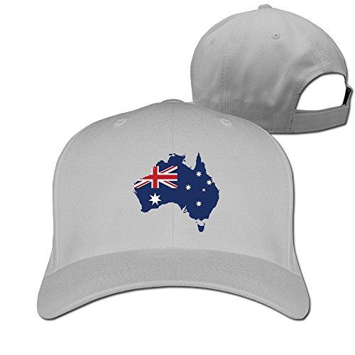 Hip Hop Costumes Australia (Sandwich Peaked Cap 100% Cotton Australia Pride Cap Adjustable Hip Hop New Design Cool Hat)