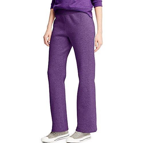 Hanes ComfortSoft Women's Petite Open Bottom Leg Sweatpant_Violet Splendor ()