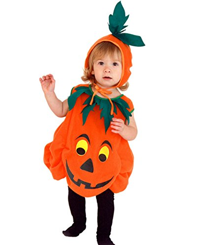 Baby's Halloween Pumpkin Costumes Cartoon Devil Cosplay Cute Outfit For Toddler (Cute Cartoon Costumes)