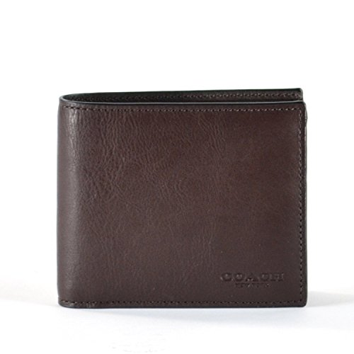 d935a8e14187 COACH Compact ID Sport Calf Bifold Wallet in Mahogany Brown 74991 - Buy  Online in UAE.