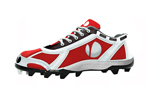verdero Force LO Molded Baseball Cleat Red / White