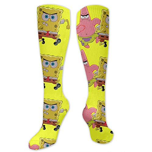 PSnsnX Spongebob Patrick Men Women Cotton Crew SocksDress -
