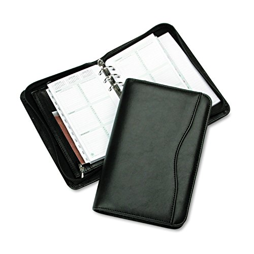 Day-Timer 82131 Avalon Simulated Leather Starter Set, 3 3/4 x 6 3/4, Black - Planner Organizer Wallet
