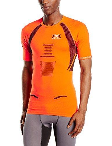 宣言隣接する間欠x-bionicメンズRunning the Trick Shortsleeve Tシャツ – オレンジ、Large by x-bionic
