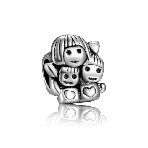 Soufeel Mother and Babies Family Charm 925 Sterling Silver European Style Bead