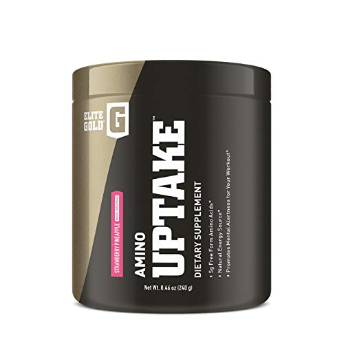 Complete Nutrition Elite Gold® Amino Uptake™ Dietary Supplement | 5g Free Form Amino Acids | Natural Energy Source | Promotes Mental Alertness (Strawberry Pineapple)