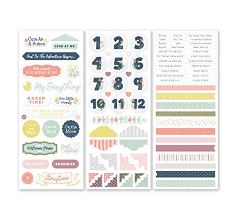 Creative Memories Storytime Designer Baby Girl & Boy Border Scrapbook Stickers Pack 3/pk