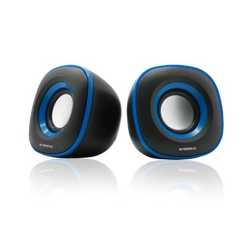 B-Move B-Blast - Altavoces 2.0 (5 W RMS, USB) color negro y azul