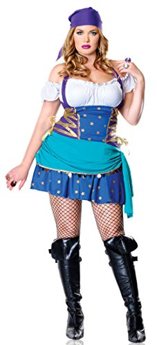 [83486 (1X-2X) Sexy Gypsy Princess Costume By Leg Avenue] (Gypsy Clothing Costume)