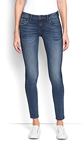 KUT from the Kloth Women's Donna Shadow-Stripe Skinny Jeans, 12 Blue
