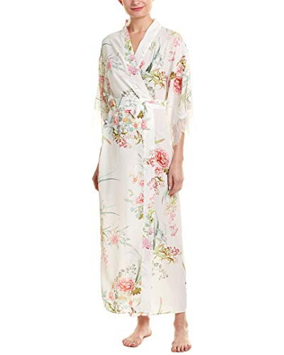 Flora Nikrooz Womens Chantilly Lace Robe, S, White ()