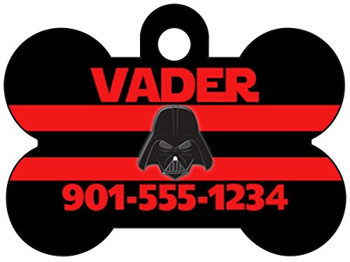 Disney Darth Vader Custom Pet Id Dog Tag Personalized w/Name & Number ()