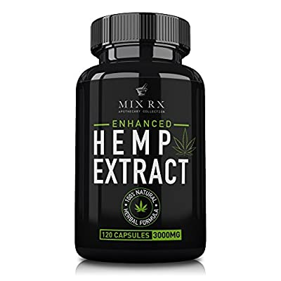 (3000 mg) Hemp Oil Capsules Pills for Pain Relief Anxiety - Best Natural Organic Hemp Seed Oil Extract for Anti Inflammatory, Anti Anxiety, Pain Relief, Sleep - 100% Pure Hemp Oil Stress Supplements