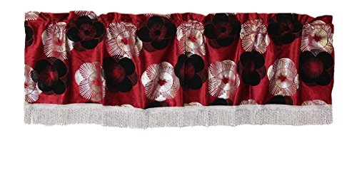 Oval Floral Trim Shaped - Violet Linen Heritage Window-Treatment-valances 60