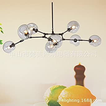 YanCui Modern Art Loft Chandeliers Clothing Store Living Room Dining Iron Tree Branch