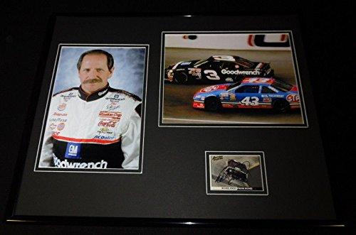 Dale Earnhardt Sr Signed Framed 16x20 Photo Display JSA vs Richard Petty ()