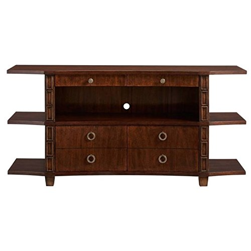 Stanley Havana Crossing Correspondent's Entertainment Console in Colonial Mahogany - Stanley Entertainment Furniture