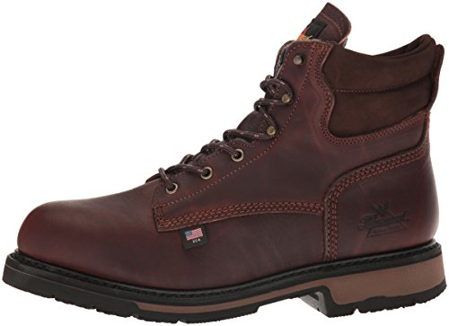 "Thorogood 804-4203 Men's American Heritage 6"" Classic Plain Toe, Safety Toe Boot, Black Walnut - 10 2E US"