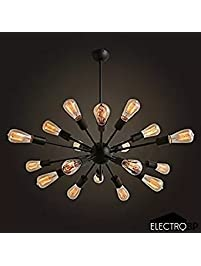 New Electro BP Vintage Metal Large Chandelier With Lights Painted Finish