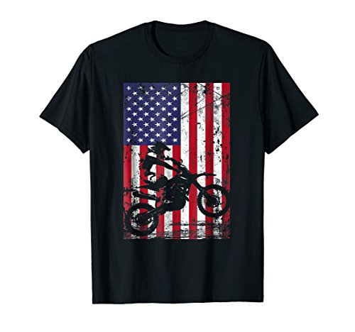 - Dirt Bike American Flag Shirt 4th of july t shirt