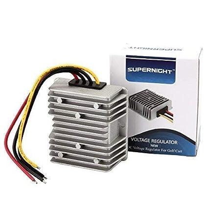 amazon com golf cart voltage reducer converter 48v to 12v 10a 120wamazon com golf cart voltage reducer converter 48v to 12v 10a 120w electronics