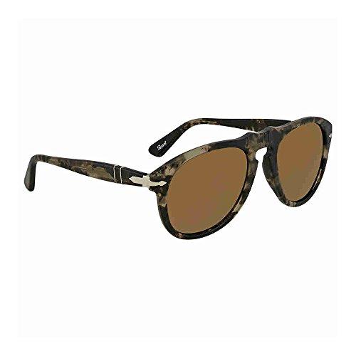 PO0649 Spotted Lightbrownmirrorgold Noir Black Persol Sonnenbrille Grey q5w1xR8n