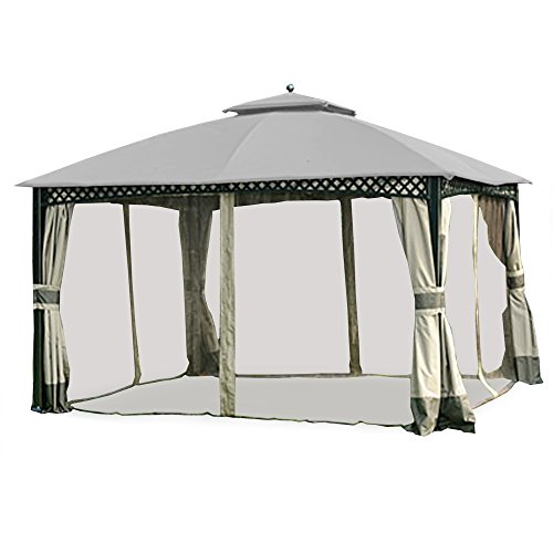 Garden Winds Replacement Canopy for The Windsor Gazebo – Riplock 350 – Slate Gray