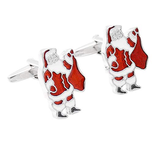 JHAYBB Cufflinks Red Drops Oil Santa Claus Continental Cute Sleeve Nail Cuffs Decoration Wild Banquet Accessories,Red