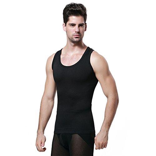 c49771a555d8e5 GKVK Mens Slimming Body Shaper Vest Shirt Abs Abdomen Slim