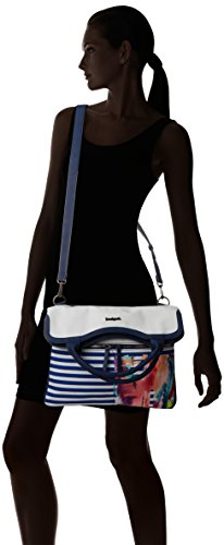 Bols Desigual Cm 5 5x15x19 Bolso rainbow Splash 7 Multicolor Mujer Blanco qO4BOx