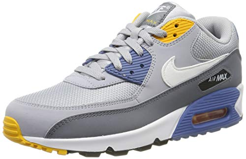 Nike Mens Air Max 90 Essential Running Shoes Wolf Grey/White/Indigo Storm AJ1285-016 Size 8