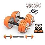 Durevole-Set-di-Manubri-Arancione-manubri-Set-Dumb-Bells-Bilanciere-Forza-Peso-di-Ferro-Body-Building-Regolabile-for-Gym-Training-Attrezzature-per-Il-Fitness