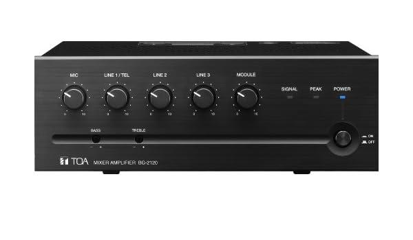 amazon com toa bg 2120 120 watt mixer amplifier home audio theater rh amazon com Toa BG 1120 Toa BG 1060