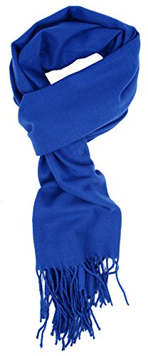 Love Lakeside-Men's Cashmere Feel Winter Solid Color Scarf (One, 00-0 Azure Blue)