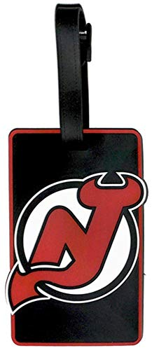 - aminco NHL New Jersey Devils Soft Bag Tag, Team Color, 7.5
