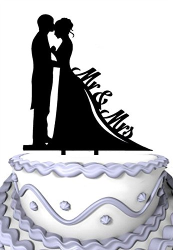 Amazon.com: Meijiafei Mr & Mrs Cake Topper Bride and Groom ...