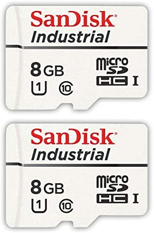 in Cases Bulk 10 Pack SDSDQAF3-008G-I 1 SanDisk Industrial 8GB Micro SD Memory Card Class 10 UHS-I MicroSDHC Everything But Stromboli Card Reader Bundle with