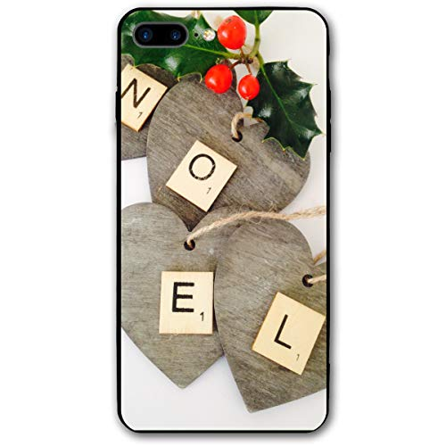 (Nordic Noel Wood Sign Letters iPhone 8 Plus Case, iPhone 7 Plus Case, Ultra Thin Lightweight Cover Shell, Anti Scratch Durable, Shock Absorb Bumper Environmental Protection Case)