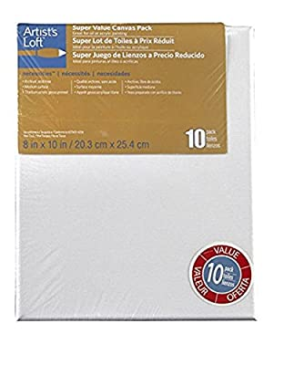 Artists Loft Necessities 8 x 10 Canvas Super Value Pack
