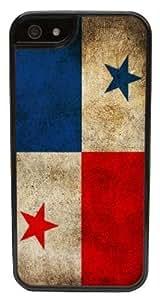 iPhone 6 Case, CellPowerCasesTM Panama Flag [Flex2 Series] -iPhone 6 (4.7) Black Case [iPhone 6 (4.7) V2 Black]
