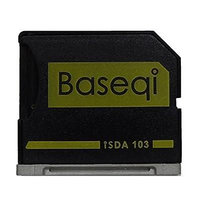 "BaseQi MicroSD de aluminio Adaptador con la plata borde para MacBook MacBook Air 13"" (MBA) / Macbook Pro 13"" hasta 2013 no retina (MBPR)"